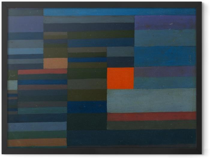 Plakat w ramie Paul Klee - Wieczorny pożar - Reprodukcje