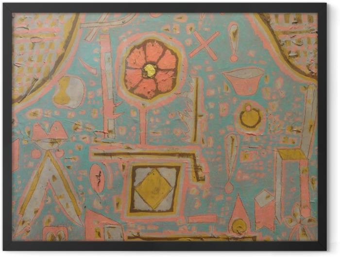 Gerahmtes Poster Paul Klee - Blüte - Reproduktion