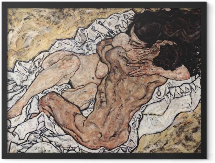 Plakat w ramie Egon Schiele - Uścisk - Reprodukcje
