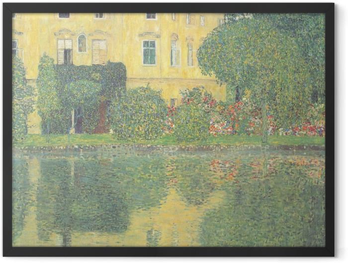 Poster en cadre Egon Schiele - Les arbres se reflétant dans un étang - Reproductions