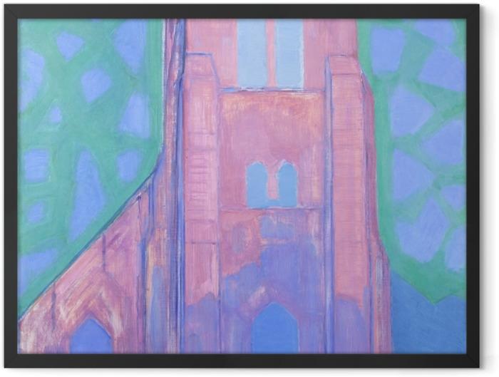 Plakat w ramie Piet Mondrian - Wieża kościoła w Domburgu - Reprodukcje