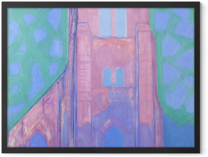 Poster en cadre Piet Mondrian - Tour de l'Église de Domburg - Reproductions