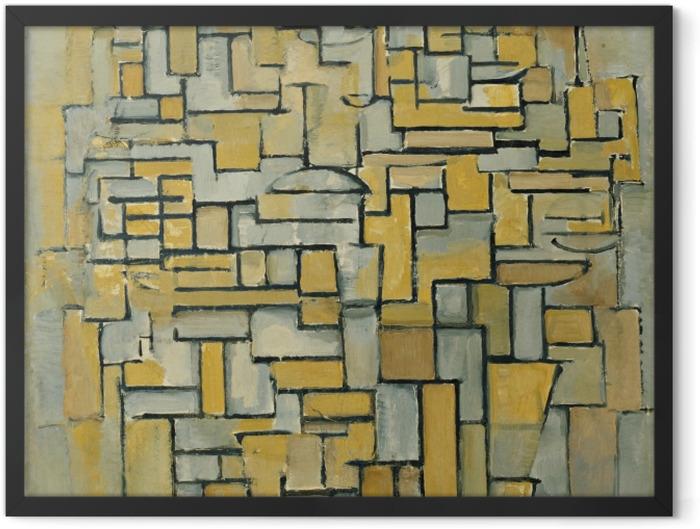Poster en cadre Piet Mondrian - Composition - Reproductions