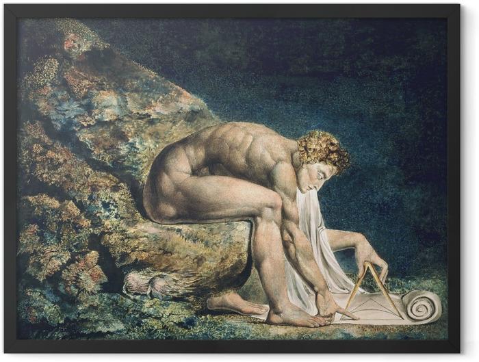 Gerahmtes Poster William Blake - Newton - Reproduktion