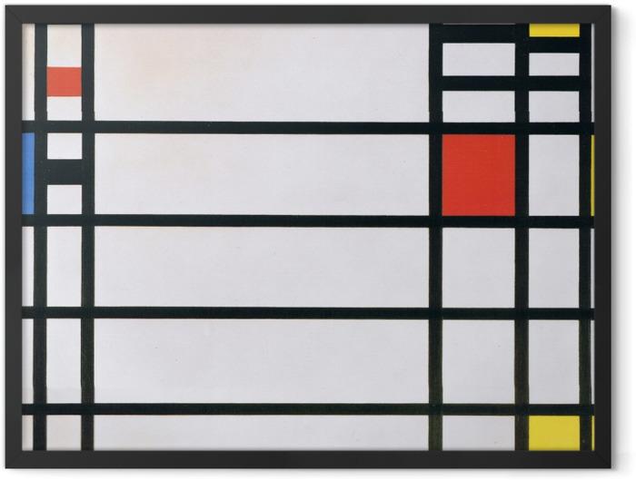 Plakat w ramie Piet Mondrian - Trafalgar Square - Reprodukcje