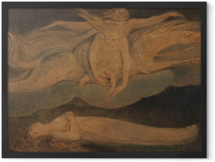 Poster en cadre William Blake - La Pitié - Reproductions