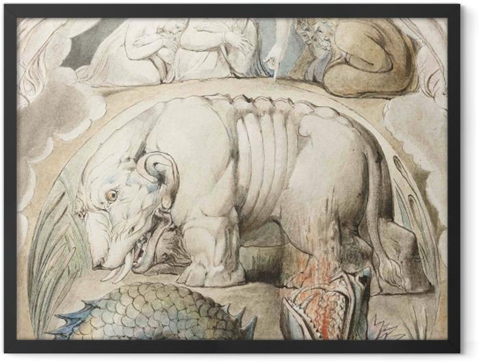 Poster en cadre William Blake - Béhémoth et Léviathan - Reproductions