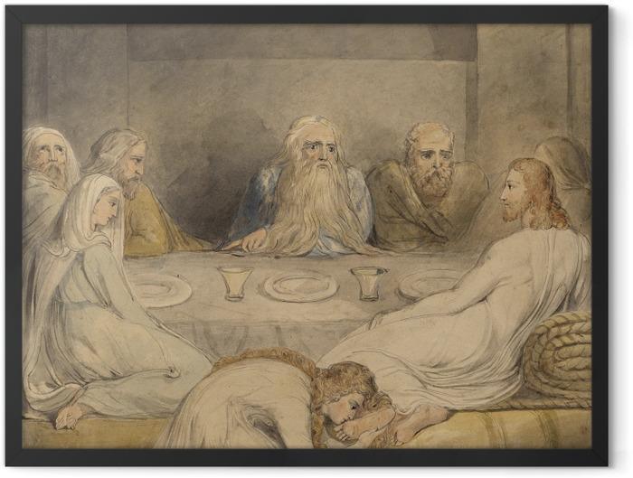 Poster en cadre William Blake - Jésus-Christ oint par une femme pêcheuse - Reproductions