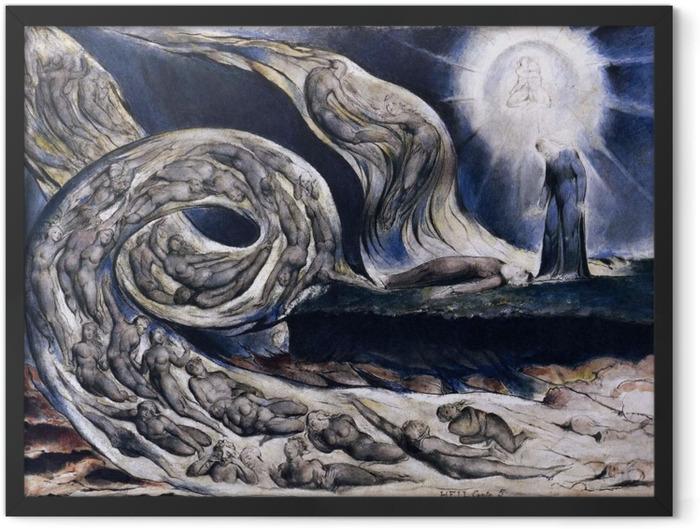 Plakat w ramie William Blake - Wir kochanków - Reprodukcje