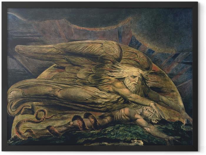 Plakat w ramie William Blake - Elochim stwarzający Adama - Reprodukcje