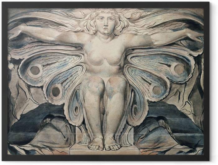 Poster en cadre William Blake - Personnification du tombe - Reproductions