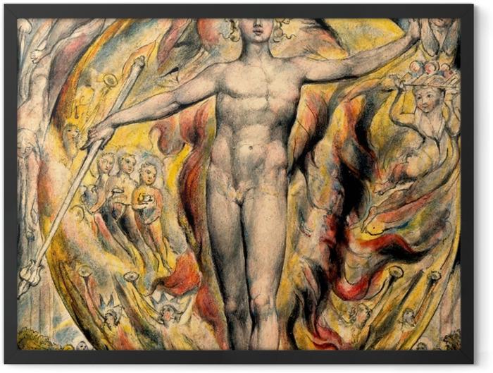 Gerahmtes Poster William Blake - Mose - Reproduktion