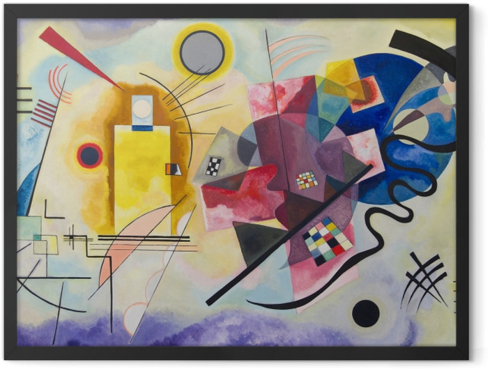 Plakat w ramie Wassily Kandinsky - Żółty czerwony niebieski - Reprodukcje