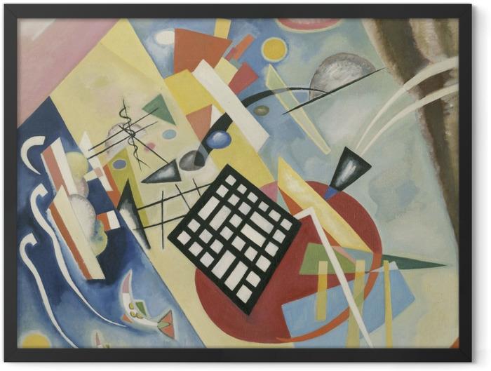 Plakat w ramie Wassily Kandinsky - Czarna krata - Reprodukcje