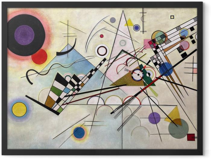 Gerahmtes Poster Wassily Kandinsky - Komposition VIII - Reproduktion