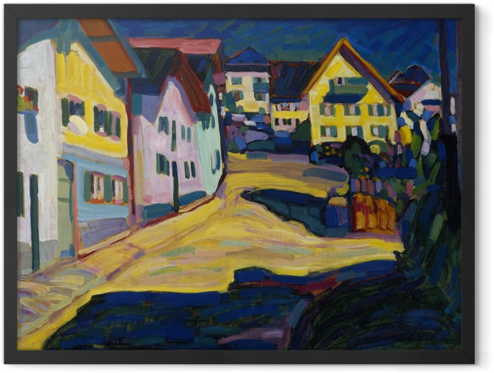 Plakat w ramie Wassily Kandinsky - Murnau Burggrabenstrasse - Reprodukcje