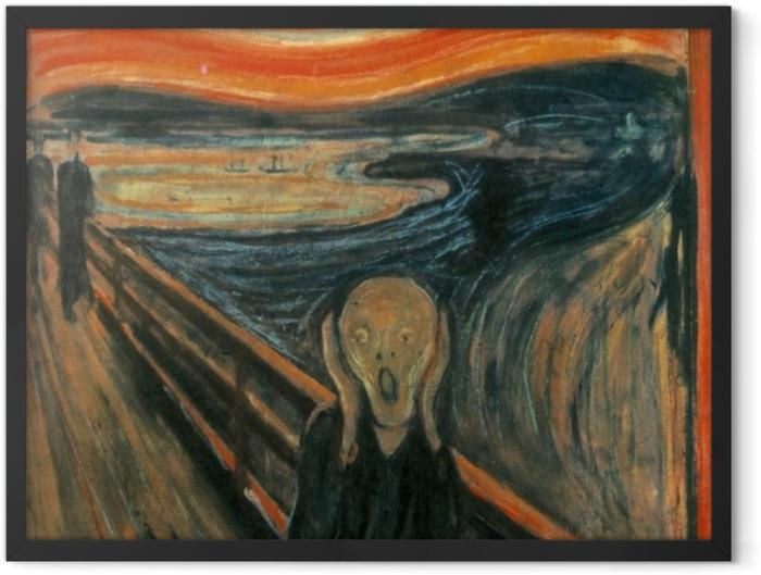 Poster en cadre Edvard Munch - Le Cri - Reproductions