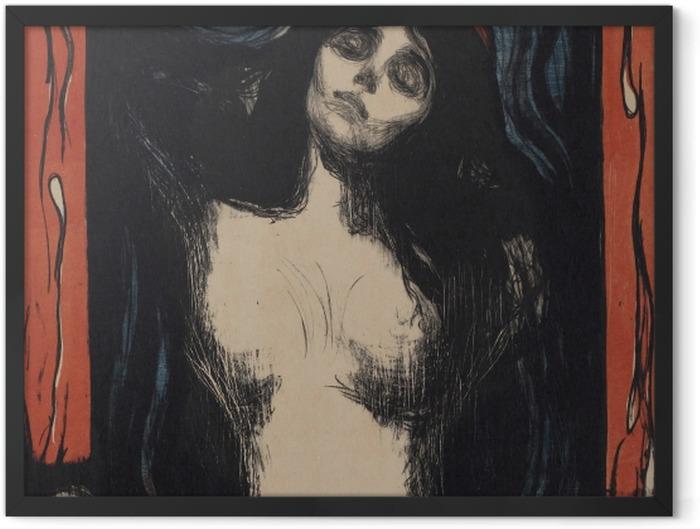 Poster en cadre Edvard Munch - La Madone - Reproductions