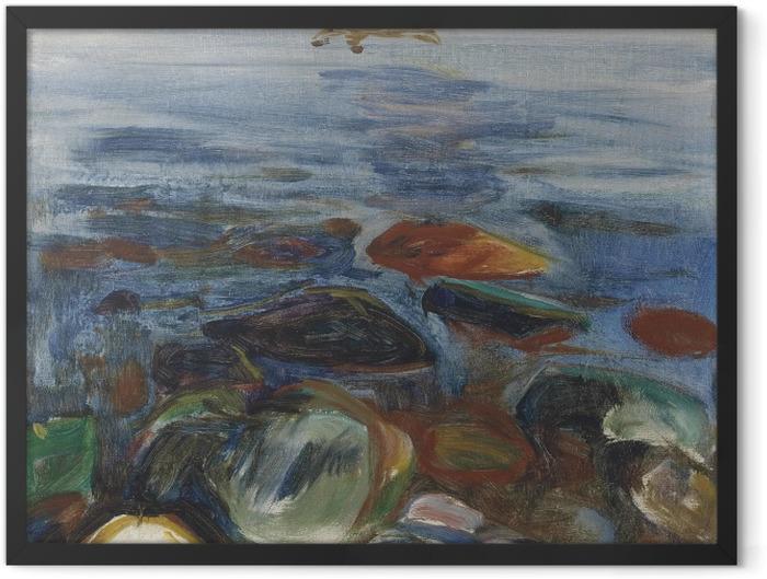 Gerahmtes Poster Edvard Munch - Boot auf dem Meer - Reproduktion