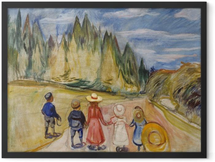 Poster en cadre Edvard Munch - Forêt enchantée - Reproductions