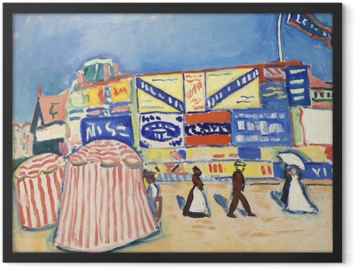 Gerahmtes Poster Albert Marquet - Poster in Trouville - Reproductions