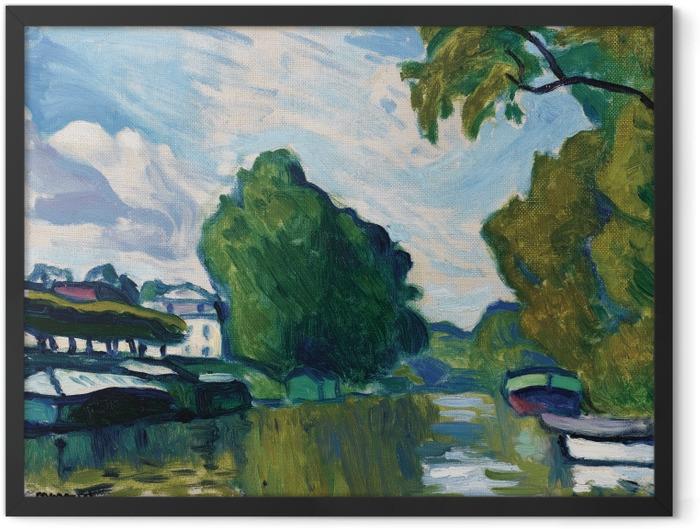Gerahmtes Poster Albert Marquet - Ufer der Seine bei Poissy - Reproductions