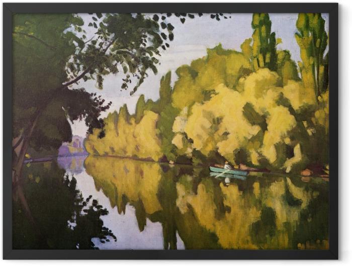 Plakat w ramie Albert Marquet - La Varenne Saint-Hilaire - łódka - Reproductions