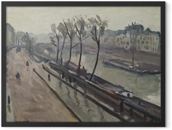 Poster en cadre Albert Marquet - Le quai des Grands-Augustins sous la pluie - Reproductions