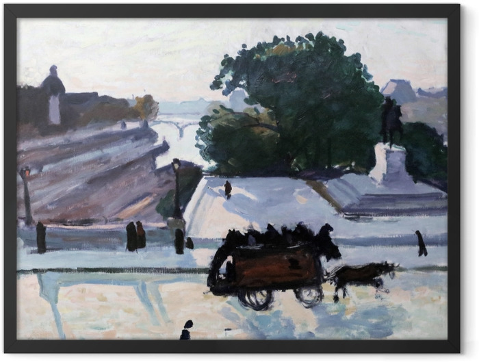 Gerahmtes Poster Albert Marquet - Paris. The Pont Neuf im Sommer. - Reproductions