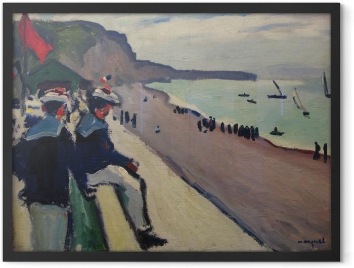 Plakat w ramie Albert Marquet - Plaża w Fécamp - Reproductions