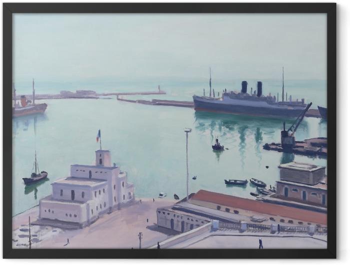 Gerahmtes Poster Albert Marquet - Hafen von Algier, Admiralsgebäude - Reproductions