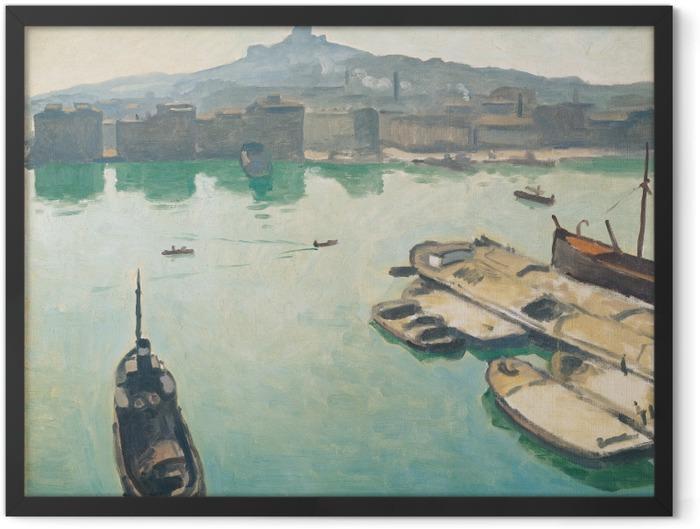Gerahmtes Poster Albert Marquet - Hafen von Marseille - Reproductions