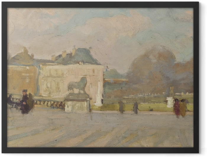 Plakat w ramie Albert Marquet - Widok na Pałac Luksemburski - Reproductions