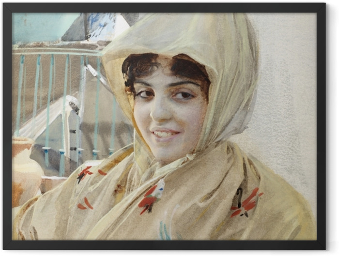 Poster en cadre Anders Zorn - Mathilde - Reproductions