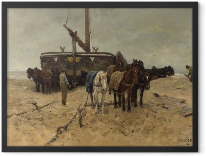 Gerahmtes Poster Anton Mauve - Fischerboot am Strand - Reproductions