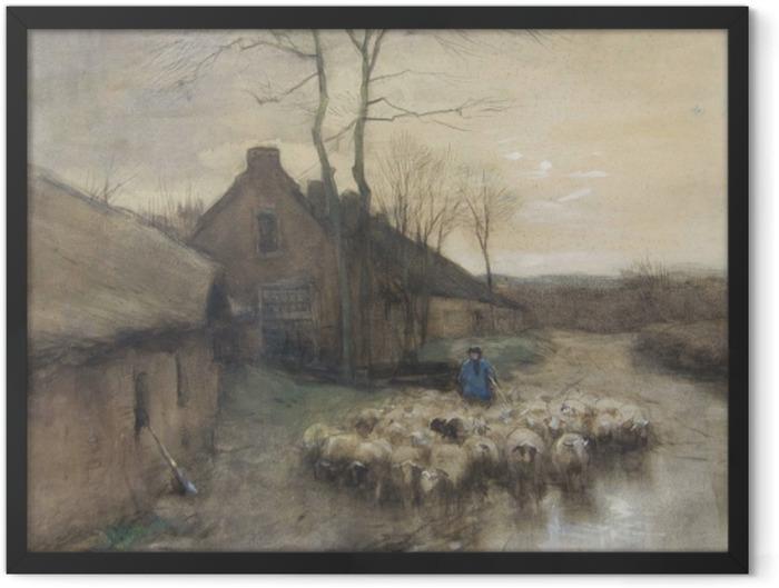 Poster en cadre Anton Mauve - Berger avec Moutons à 't Gooi - Reproductions