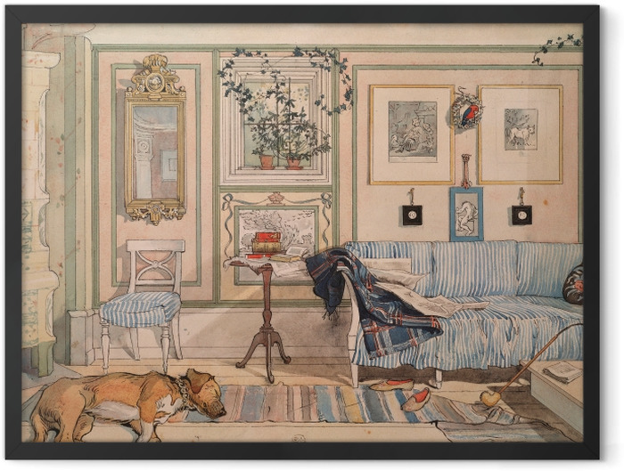 Gerahmtes Poster Carl Larsson - Gemütliche Ecke - Reproductions