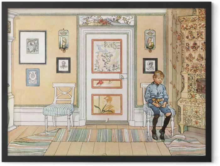 Poster en cadre Carl Larsson - Dans le coin - Reproductions