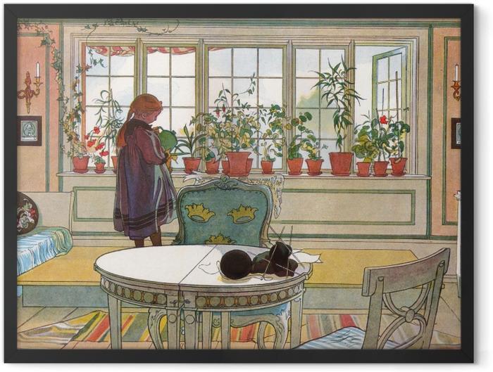 Plakat w ramie Carl Larsson - Ukwiecone okno - Reproductions