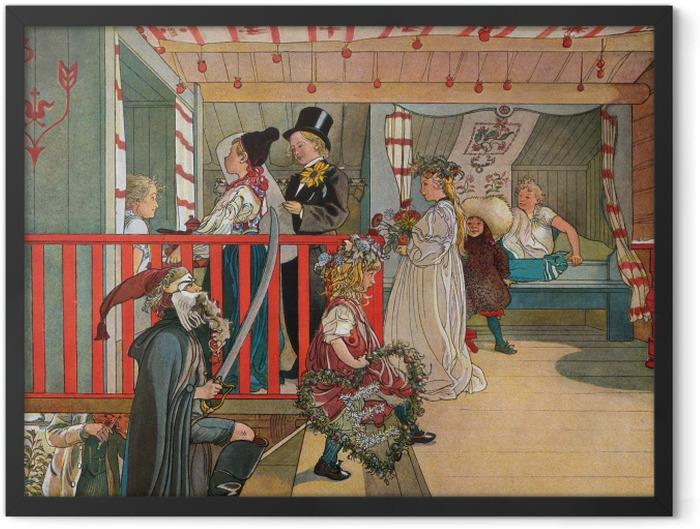 Plakat w ramie Carl Larsson - Imieniny w szopie - Reproductions