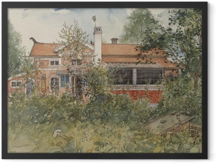 Poster en cadre Carl Larsson - Maison au soleil - Reproductions