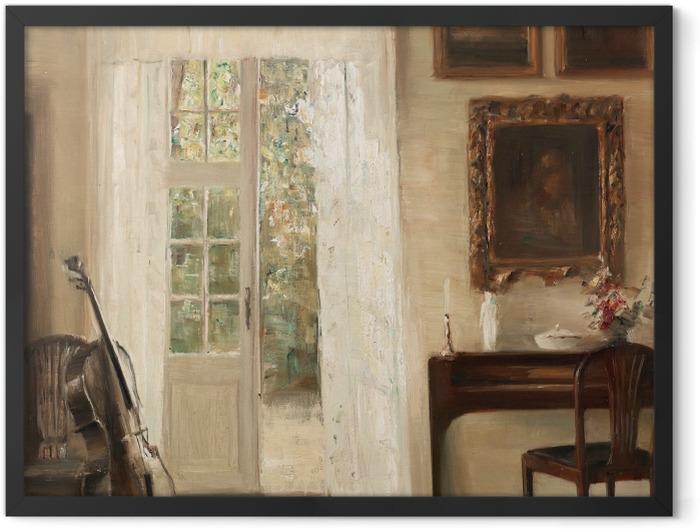 Gerahmtes Poster Carl Vilhelm Holsøe - Interieur mit Cello - Reproductions