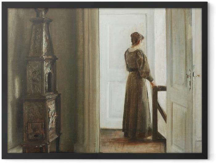 Gerahmtes Poster Carl Vilhelm Holsøe - Interieur mit einer Frau - Reproductions