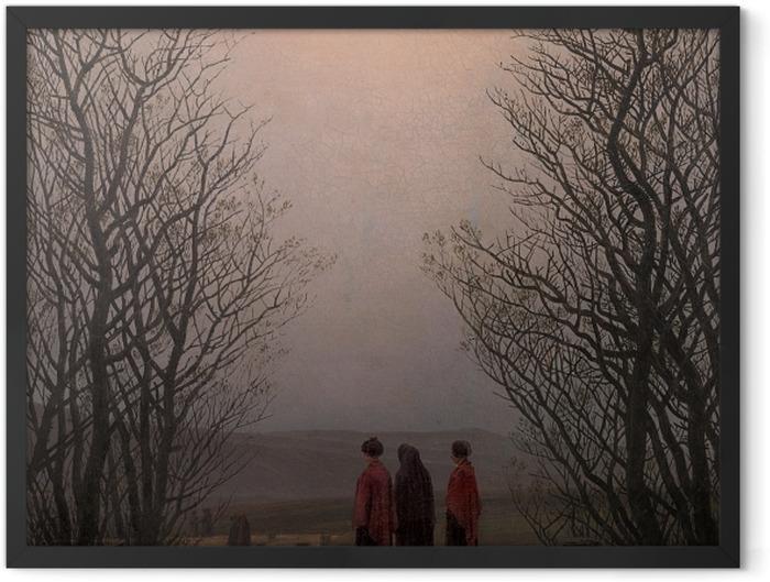 Gerahmtes Poster Caspar David Friedrich - Ostermorgen - Reproductions