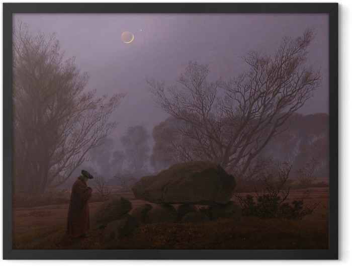 Plakat w ramie Caspar David Friedrich - Spacer o zmierzchu - Reproductions