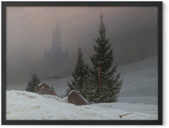 Plakat w ramie Caspar David Friedrich - Pejzaż zimowy II - Reproductions