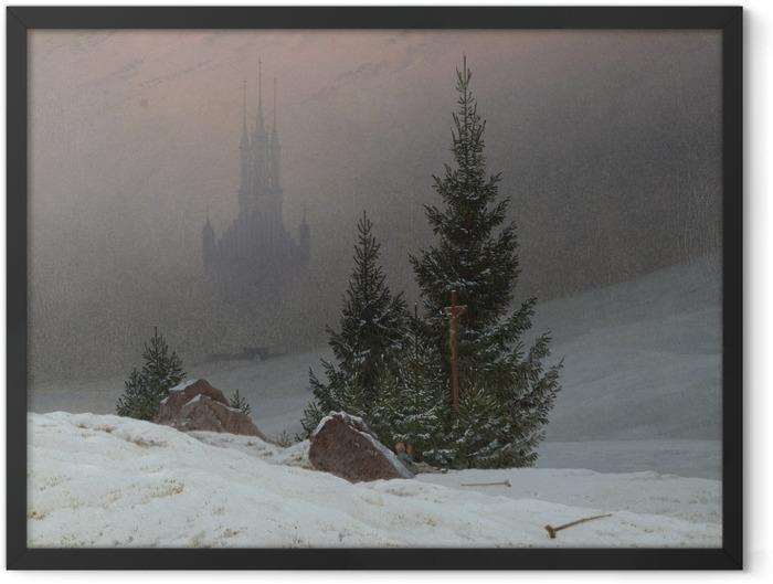 Poster en cadre Caspar David Friedrich - Paysage d'hiver II - Reproductions