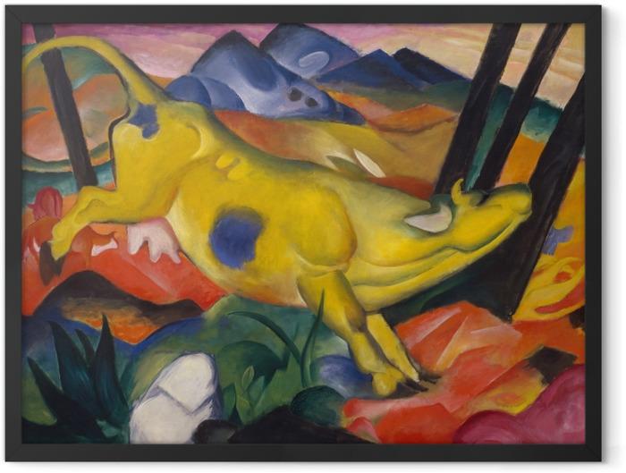 Plakat w ramie Franz Marc - Żółta krowa - Reproductions