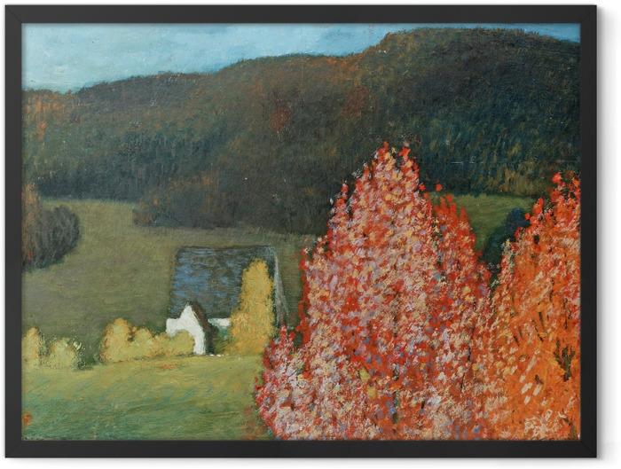 Plakat w ramie Helmer Osslund - Jesienny pejzaż z drzewami - Reproductions