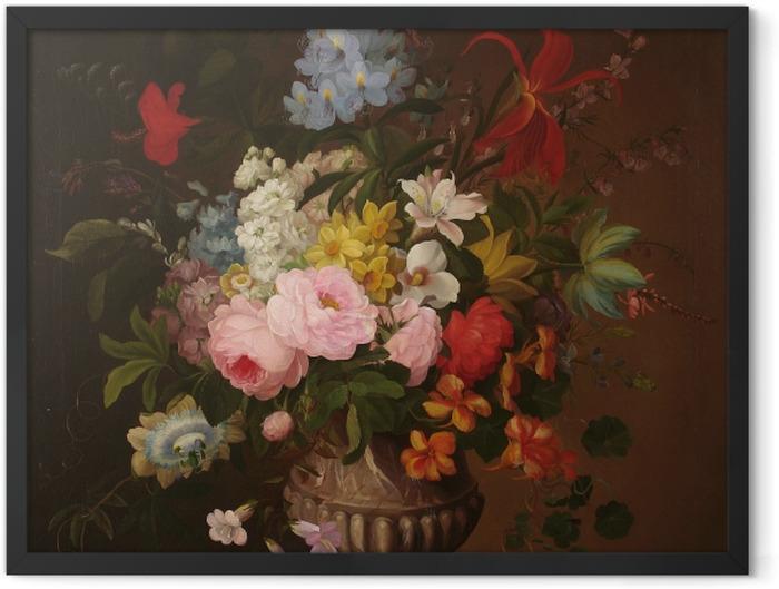 Plakat w ramie Henryka Beyer - Kwiaty w wazonie - Reproductions